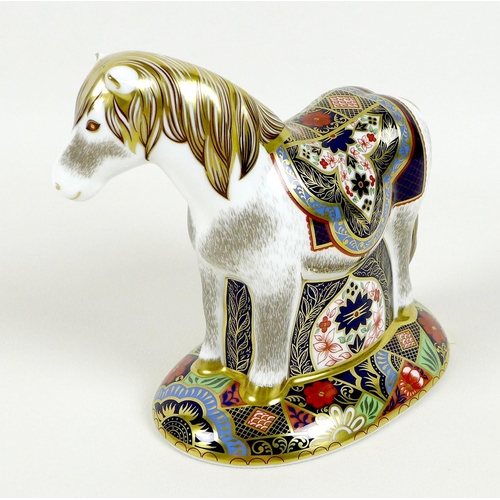 41 - A Royal Crown Derby paperweight, modelled as 'Miniature Shetland Pony', limited edition 79/500 exclu...