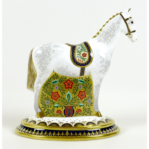 42 - A Royal Crown Derby paperweight, modelled as 'The Show Pony', Designers' Choice Collection, limited ...
