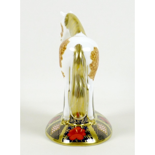 43 - A Royal Crown Derby paperweight, modelled as 'Epsom Filly, limited edition 229/500, MMXIII, gold sto...