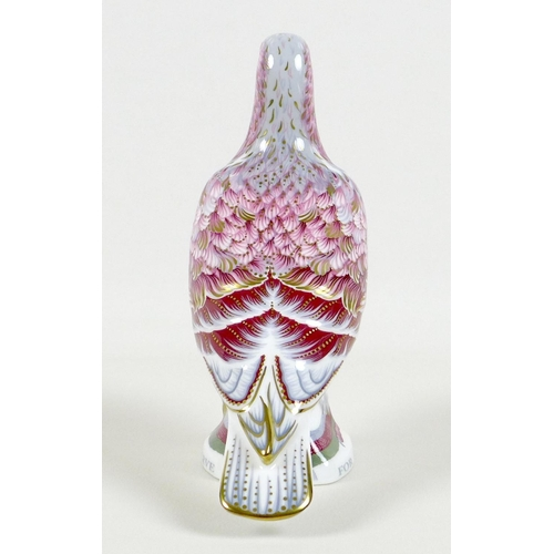 45 - A Royal Crown Derby commemorative paperweight, modelled as 'War Pigeon', In recognition of all World...