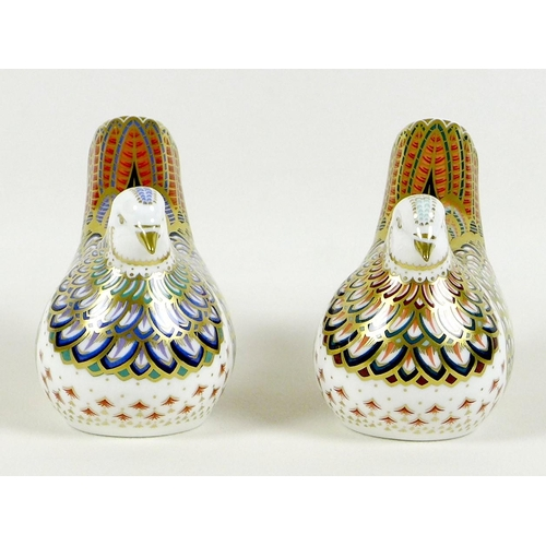47 - Two Royal Crown Derby paperweights, comprising 'Millenium Dove', limited edition 1130/1500, an Exclu...