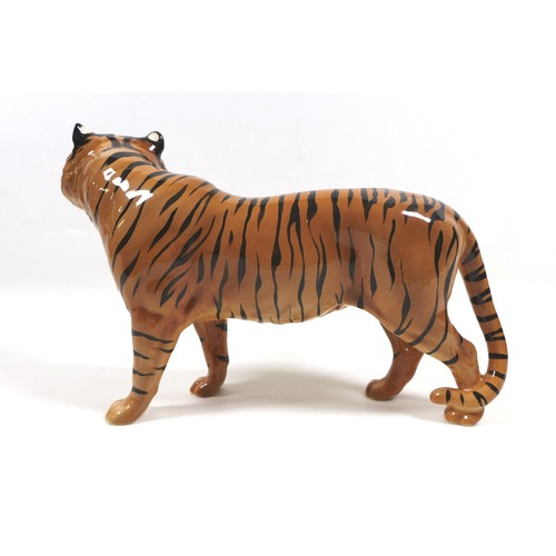 6 - A Beswick 'Tiger', model 2096, tan with black stripes - gloss, 19cm high.
