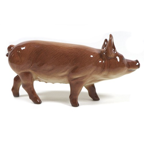 24 - Two Beswick pig figurines, comprising 'Tamworth Sow', model 4114, gloss, 8.5cm high, and 'Gloucester...