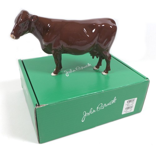 39 - A Beswick 'Red Poll Cow', model 4111, red/brown - gloss, 16cm high, with box.