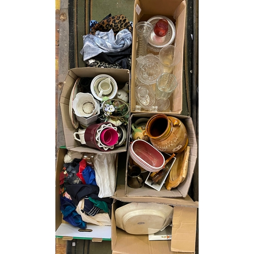 14 - Six Boxes of assorted Glassware and Ceramics...