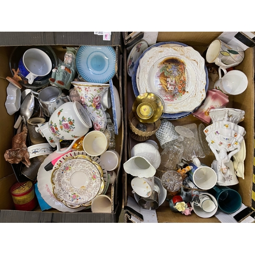 18 - Two Boxes of Ceramics and Glass...