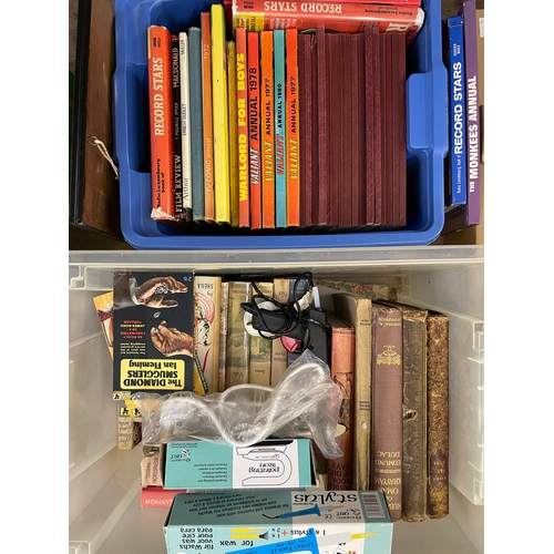 28 - Two Boxes of Books, Craft Iron , Wax painting equipment and Map