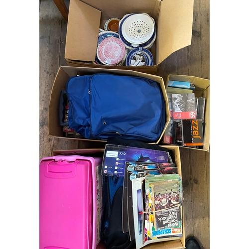 41 - Four Boxes of CDs,Ceramics and Bric a Brac