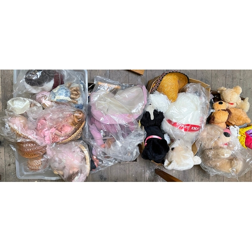 57 - Four Boxes of Soft Toys and Dolls...
