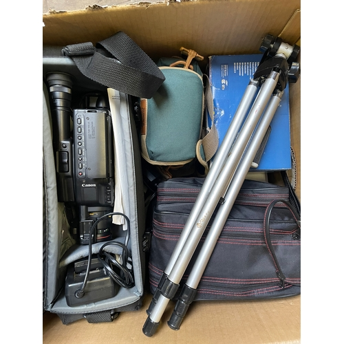 59 - Box of Various Video Cameras and Equipment...