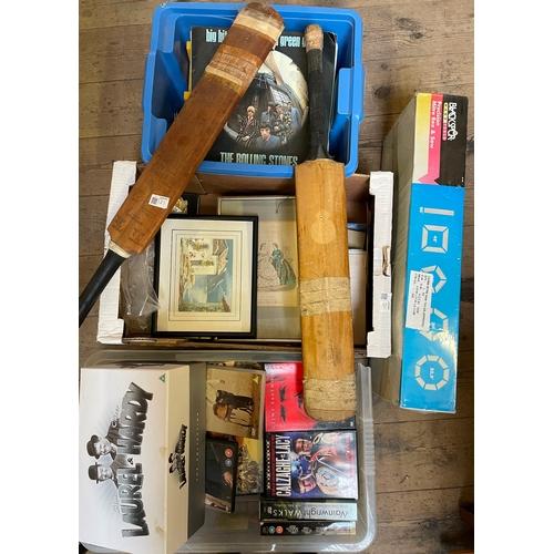 60 - Collection of Tools,LPs,DVDs,Ephemera,Cricket Bats,Etc