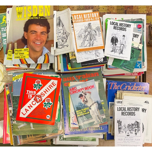8 - A large collection of various cricket magazines, mostly The Cricketer International etc