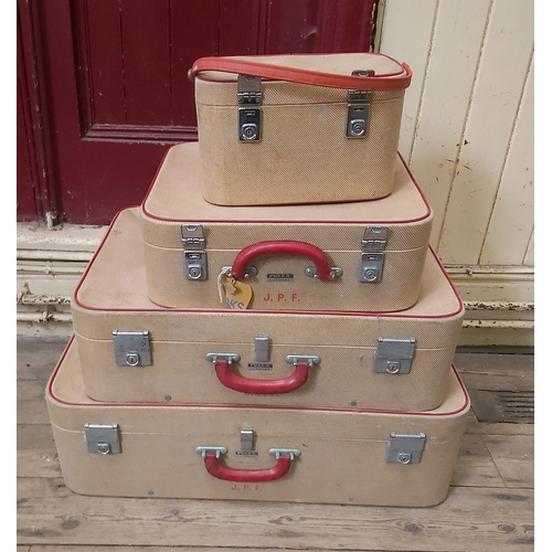 110 - Four Travelling Cases by Pukka, initialled J,P.F.