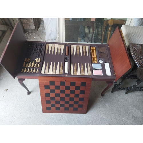 121 - Games Table with Fitted Interiors