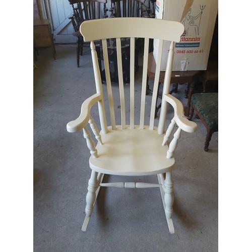 125 - White Rocking Chair