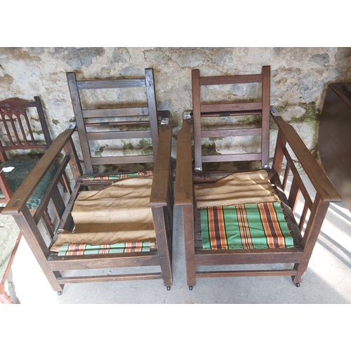 126 - Two Reclining Armchairs