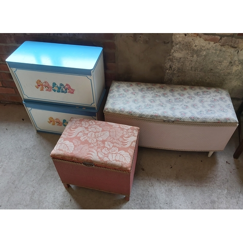 129 - Two Blanket Boxes and Two Childrens Storage Boxes