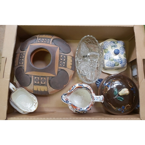 13 - Three Boxes of Jugs and Vases including a Bowl in the Style of Wedgwood