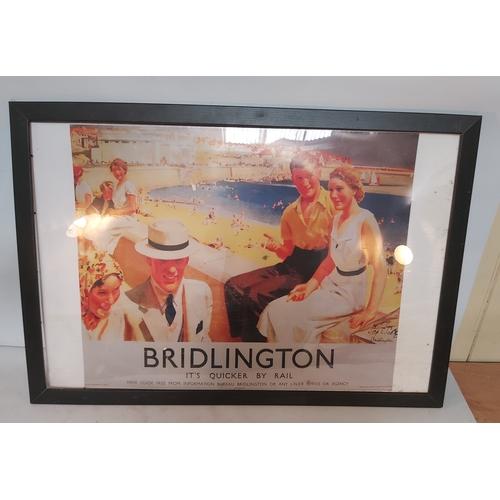 148 - Framed Bridlington Railway Poster
