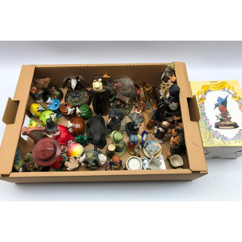 306 - Collection of pottery figures, Country Artists figures, some continental figures etc in one box