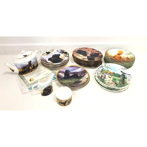 357 - Various sets of collectors plates to include Royal Doulton 'Rollinson's Portraits of Nature', Wedgwo...