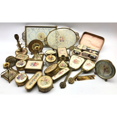 359 - A comprehensive gilt metal dressing table set