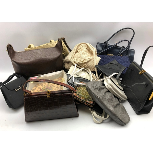 375 - Various ladies hand-bags and purses in one box