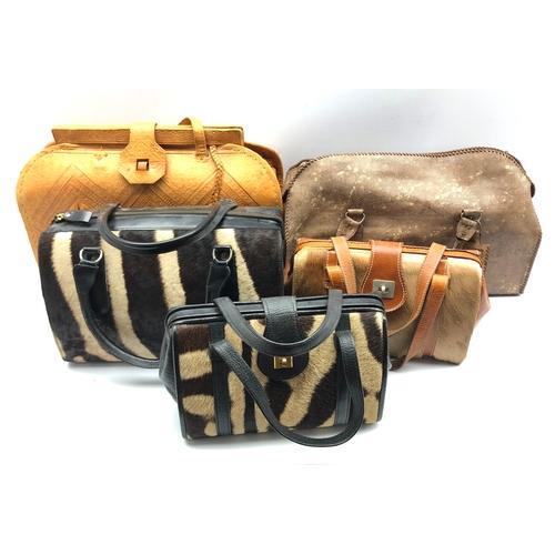 376 - Five ladies handbags