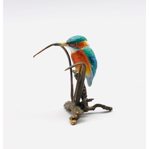 401 - Albany miniature Kingfisher figure, H5cm
