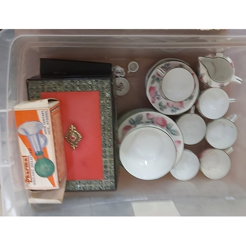 44 - Four Boxes of Glass and Ceramics including a Soda Syphon