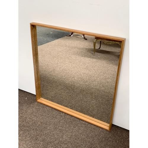 465 - Oak framed wall mirror