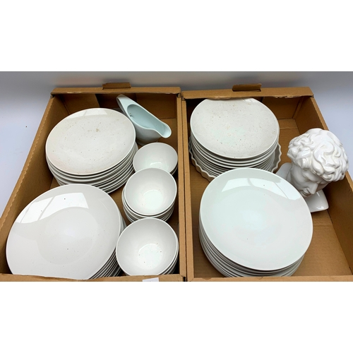 537 - Ikea dinner wares and other ceramics, in two boxes