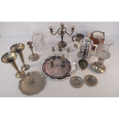 57 - Box of Silver Plate and Glass
