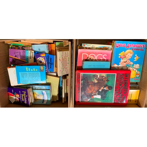 585 - Mixed books, including children's books, International show jumping, eventing and dressage edited by...