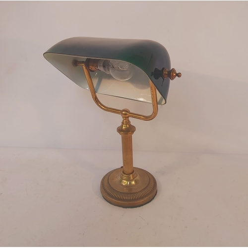 61 - Desk Lamp with Green Shade