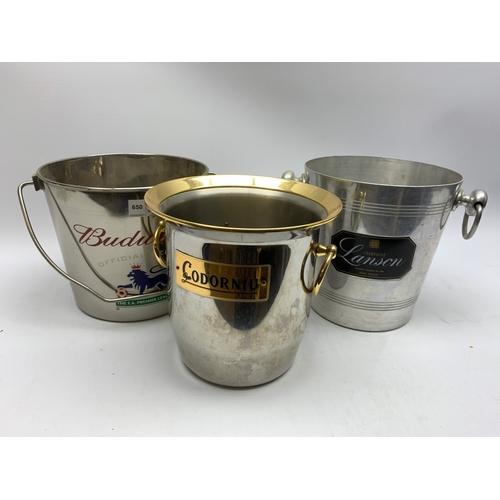 650 - Three ice buckets