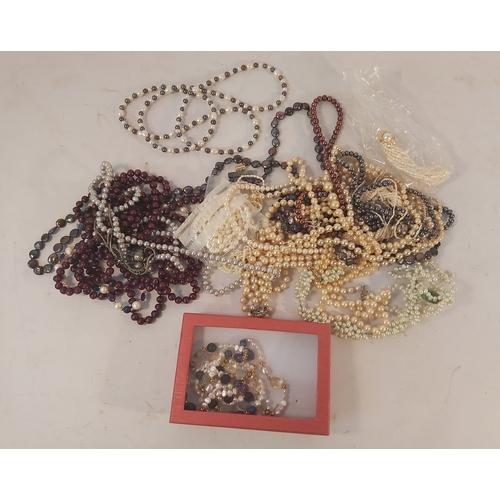 67 - Box of Costume Jewellery Necklaces