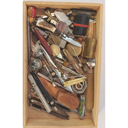 76 - Wooden Tray of Collectables