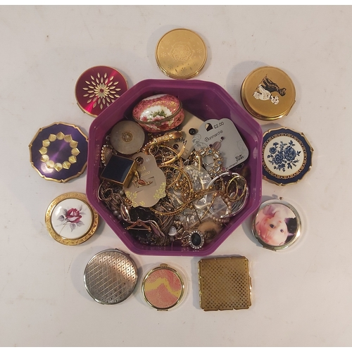 78 - Box of Jewellery and Compacts