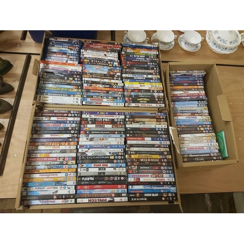 32 - Three Boxes of DVDs,Blue Ray and PC Games