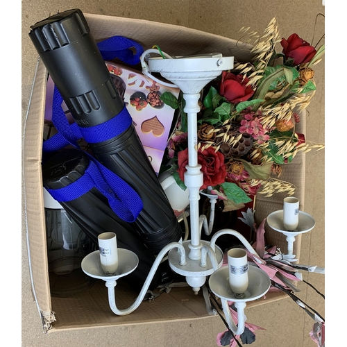 37 - Faux flowers, kitchenalia, and other kitchen accessories, in one box