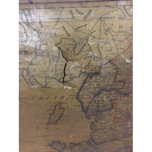 Road Map Of England And Wales With Towns.Old Coach Map Of England Wales With The Cross Roads Distances From