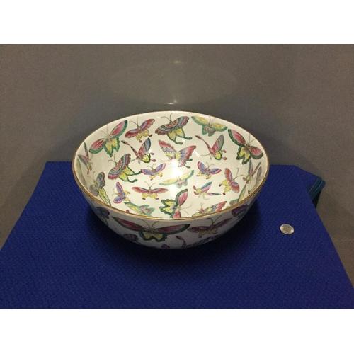 3 - Large oriental butterfly bowl 14