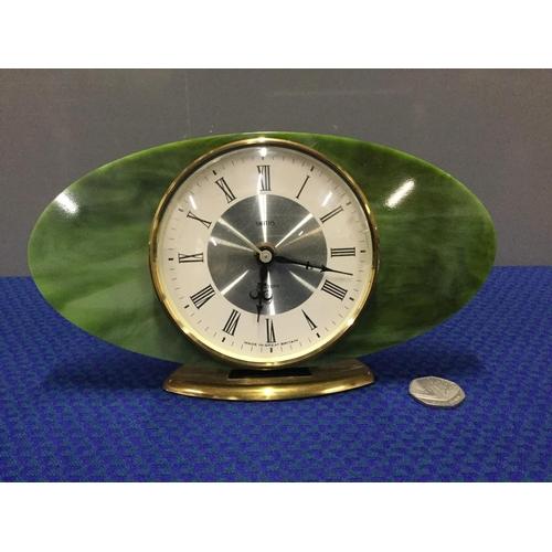 10 - art deco style smiths mantle clock...