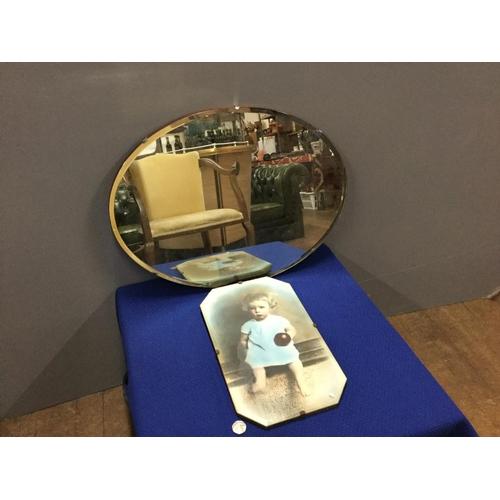 23 - 2 vintage mirrors...
