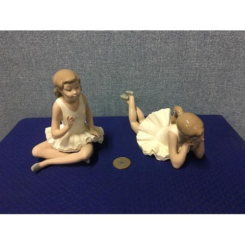 55 - 2 Nao Ballerina figurines...