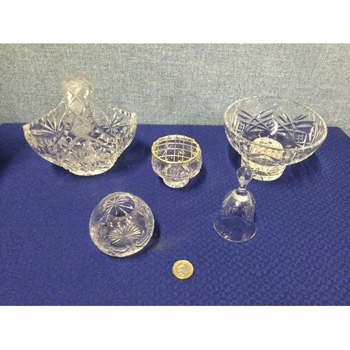 6 - 5 pieces of Edinburgh crystal...