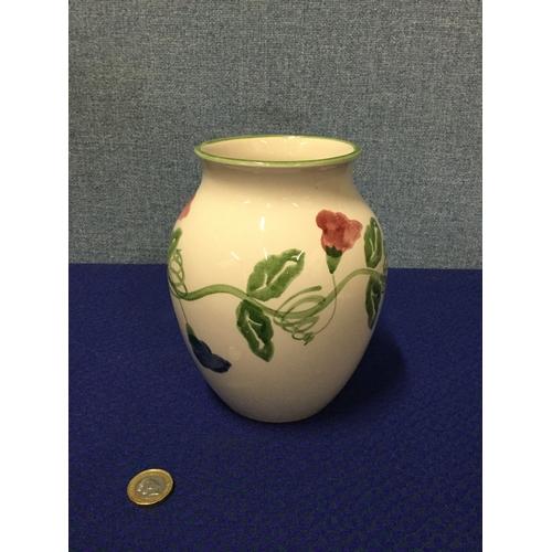 8 - Hand painted Poole vase...
