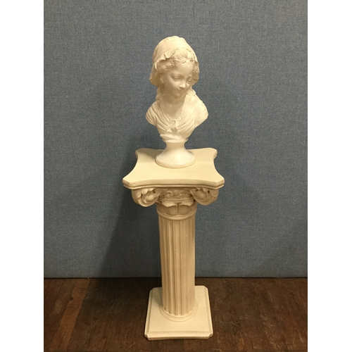 18 - Ornamental bust on heavy column....