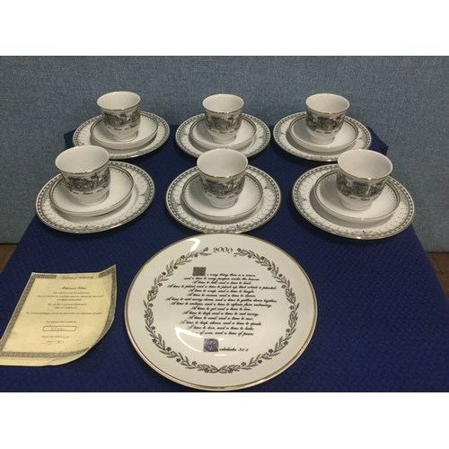 24 - 19 piece Scenes of Falkirk Millennium Tea set and plate...